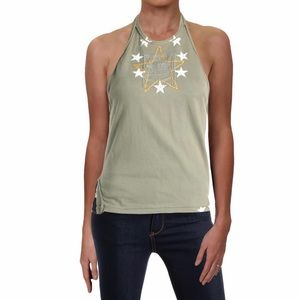 Free People Embroidered Crop Tank Top